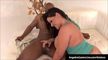 Angelina voulait essayer une bite noire géante